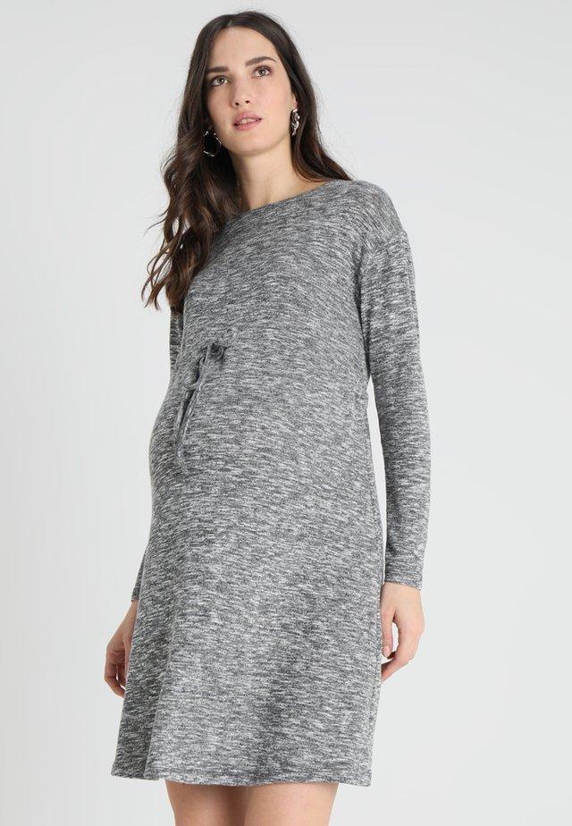 WAISTED DRESS - Jumper dress - grey