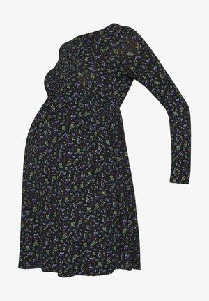 PLAIN SMOCK - Jersey dress - black