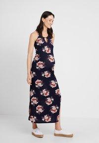 New Look Maternity - MATERNITY PRINT PLISSE DRESS - Maxi-jurk - blue - 0