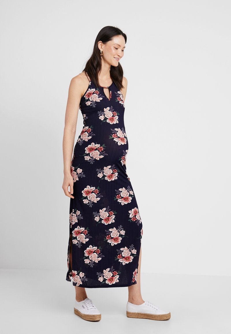 New Look Maternity - MATERNITY PRINT PLISSE DRESS - Maxi-jurk - blue