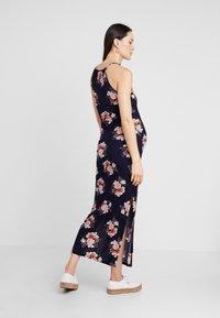 New Look Maternity - MATERNITY PRINT PLISSE DRESS - Maxi-jurk - blue - 2