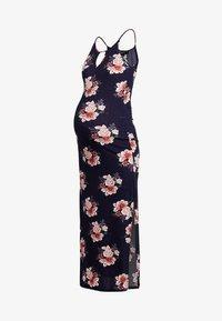 New Look Maternity - MATERNITY PRINT PLISSE DRESS - Maxi-jurk - blue - 4