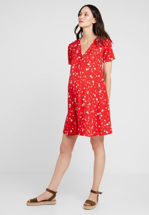 FLORAL DITSY DRESS - Skjortekjole - red