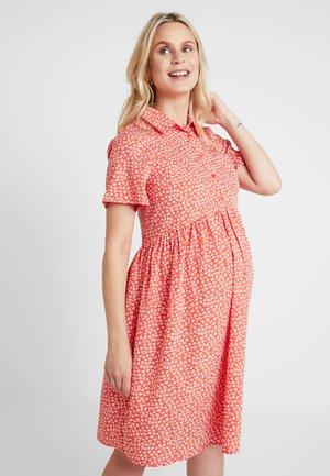 RACHEL DITSY DRESS - Košilové šaty - red