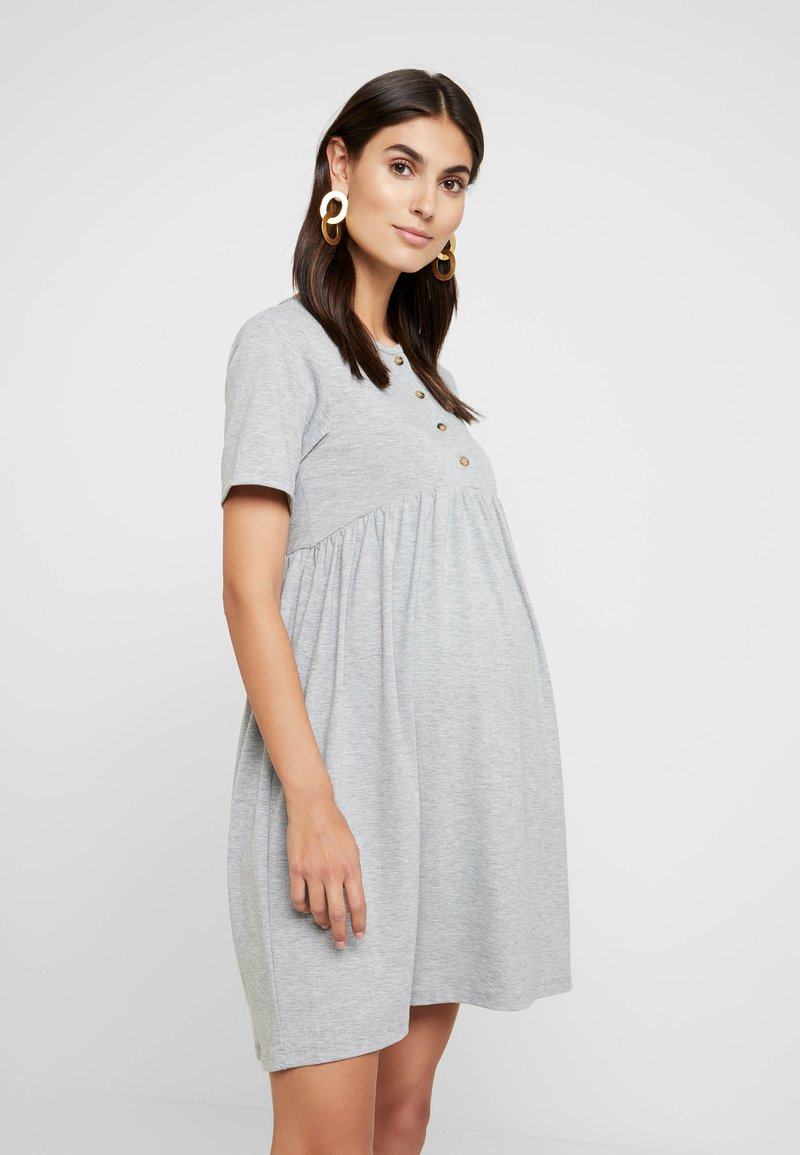 New Look Maternity - NURSING SMOCK DRESS - Žerzejové šaty - grey