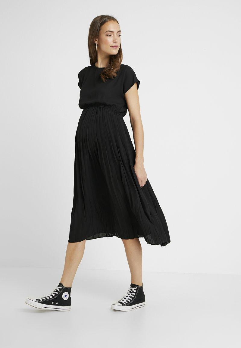 New Look Maternity - PLEATED MIDI DRESS - Day dress - black