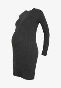 New Look Maternity - POPPER VARY BODYCON - Sukienka z dżerseju - dark grey - 4