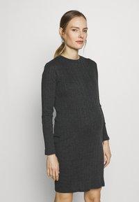 New Look Maternity - POPPER VARY BODYCON - Sukienka z dżerseju - dark grey - 0
