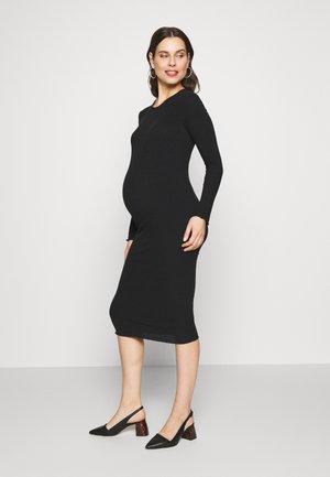 LONG SLEEVE DRESS - Jerseykjoler - black