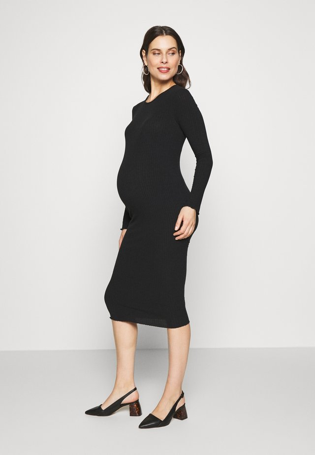 LONG SLEEVE DRESS - Robe en jersey - black