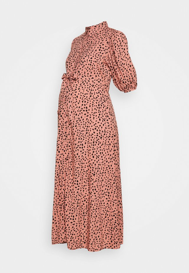 PRINT BELTED DRESS - Robe chemise - pink