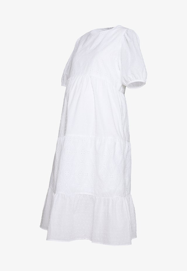 TIERED MIDAXI - Day dress - white