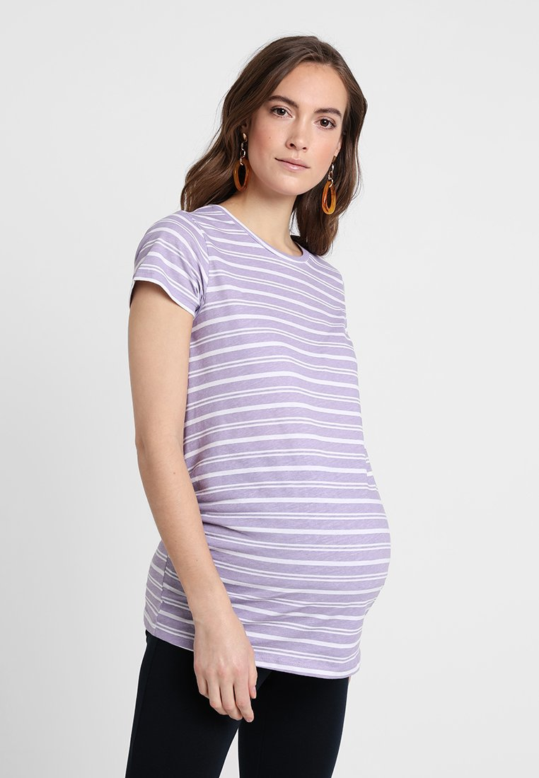New Look Maternity - STRIPE TEE 2 PACK - Triko s potiskem - purple