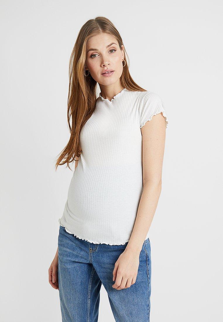 New Look Maternity - LETTUCE EDGE TEE - Camiseta básica - cream