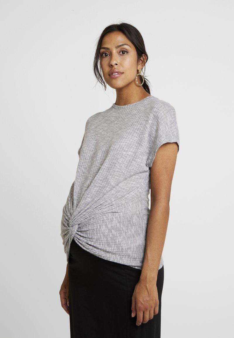 New Look Maternity - TWIST - Print T-shirt - grey