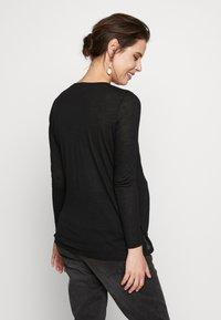 New Look Maternity - WRAP NURSING 2 PACK - Camiseta de manga larga - black/white - 2