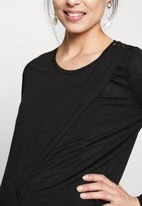 New Look Maternity - WRAP NURSING 2 PACK - Camiseta de manga larga - black/white - 4