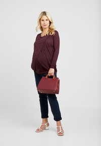 New Look Maternity - NURSING 2 PACK - Bluzka z długim rękawem - dark green/dark burgundy - 1