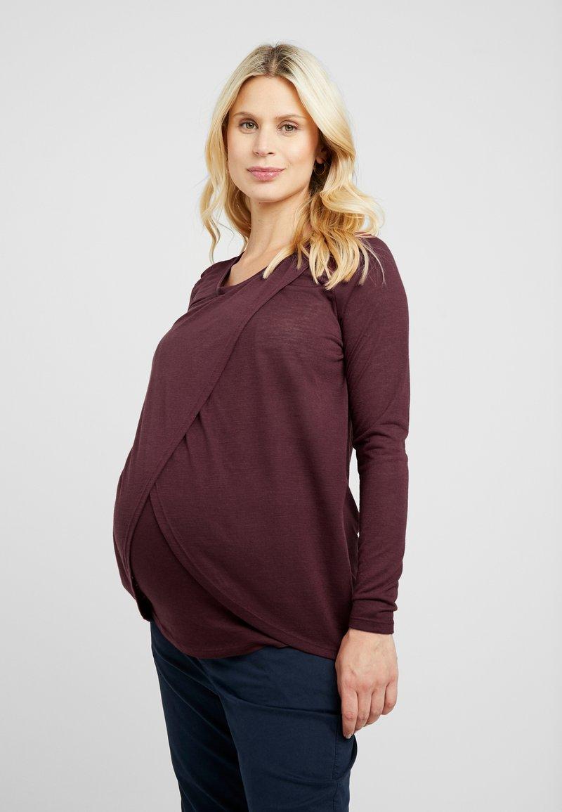 New Look Maternity - NURSING 2 PACK - Long sleeved top - dark green/dark burgundy