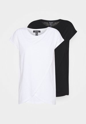 NURSING WRAP TEE 2PACK - Camiseta estampada - black/white