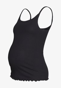 New Look Maternity - 2 PACK STITCH CAMI - Topper - white/black - 1