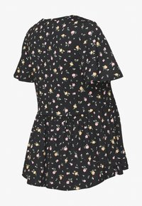New Look Maternity - DITSY PEPLUMTOP - T-shirt z nadrukiem - black - 1