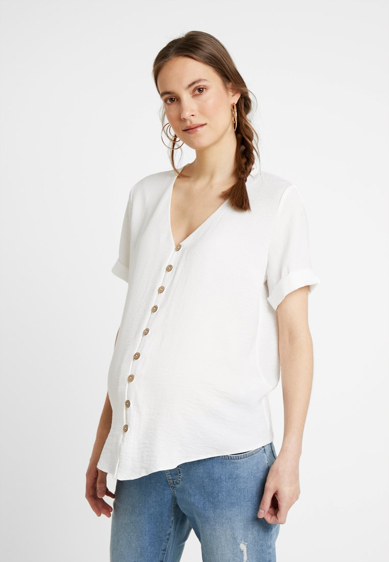 New Look Maternity - PENNY BUTTON - Blouse - white