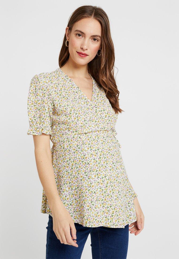 New Look Maternity - LEANA DITSY FRILL HEM - Bluse - white
