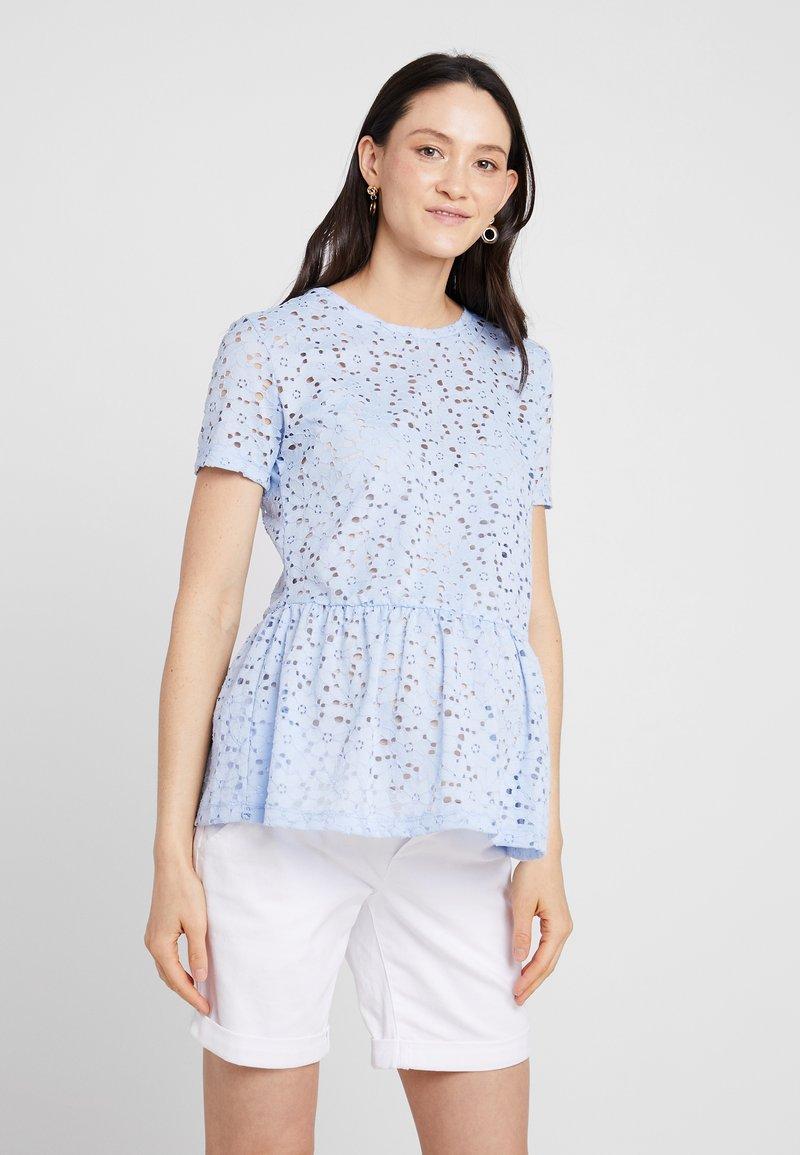 New Look Maternity - PEPLUM - Bluse - blue