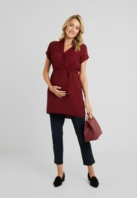 New Look Maternity - MATERNITY MARA OHEAD BELTED - Blouse - dark burgundy - 1