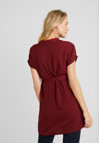 New Look Maternity - MATERNITY MARA OHEAD BELTED - Blouse - dark burgundy - 2