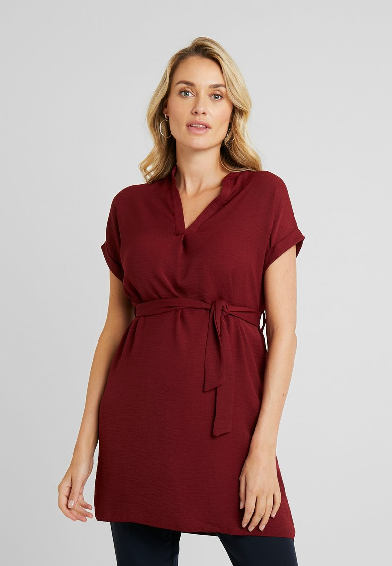 New Look Maternity - MATERNITY MARA OHEAD BELTED - Blouse - dark burgundy