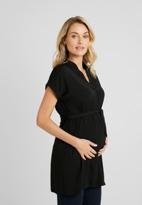 New Look Maternity - MATERNITY MARA OHEAD BELTED - Blus - black - 0