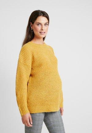 MATERNITY OP LI LONG LINE JUMPER - Pullover - mustard