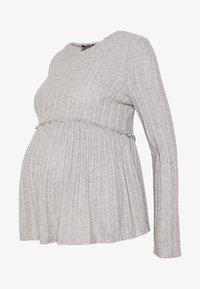 New Look Maternity - LOUNGE C+S FG LETTUCE EDGE - Stickad tröja - light grey melange - 4