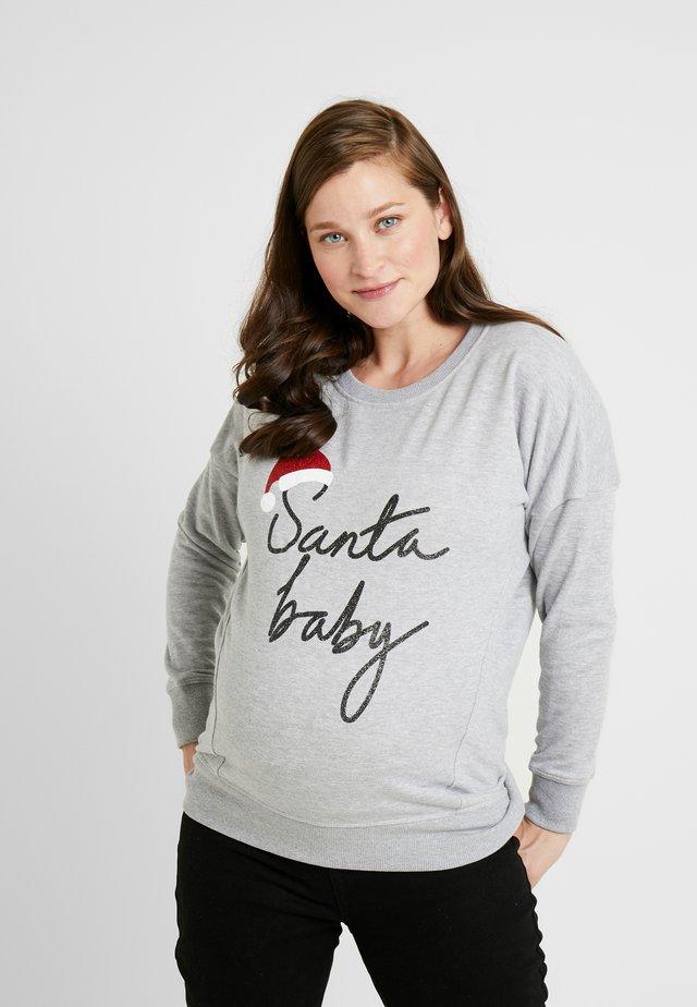 XMAS SANTA BABY - Sweatshirt - grey