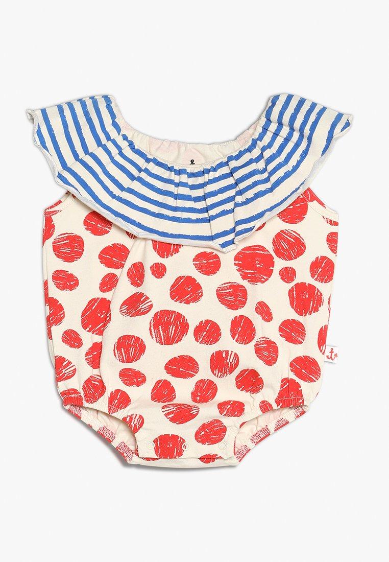 Noé & Zoë - COLLAR ROMPER BABY - T-Shirt print - red