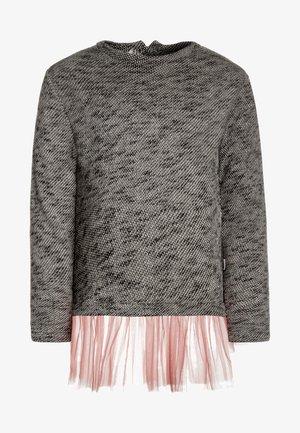 BABY TUTU - Pletené šaty - grey melange