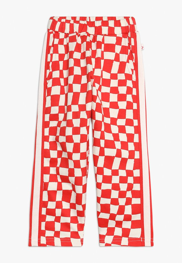 SPORTY PANTS - Tracksuit bottoms - red checker
