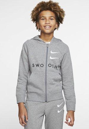 NIKE SPORTSWEAR  OLDER KIDS' (BOYS') FULL-ZIP FRENCH TERRY - veste en sweat zippée - carbon heather/carbon heather/white