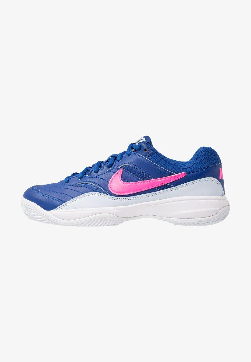Nike Performance - COURT LITE CLY - Tennisschuh für Sandplätze - indigo force/pink blast/half blue/white