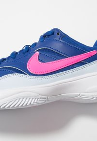 Nike Performance - COURT LITE CLY - Clay court tennis shoes - indigo force/pink blast/half blue/white - 5