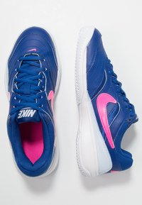 Nike Performance - COURT LITE CLY - Clay court tennis shoes - indigo force/pink blast/half blue/white - 1