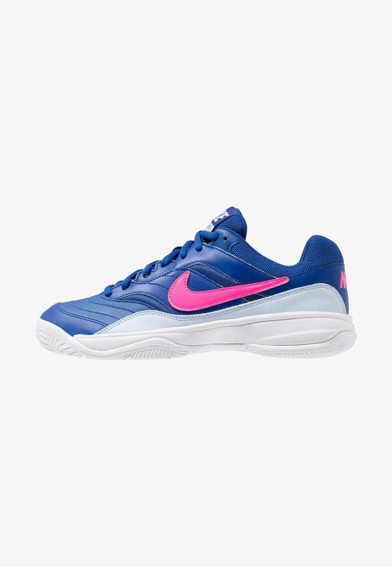 Nike Performance - COURT LITE - Buty tenisowe uniwersalne - indigo force/pink blast/half blue/white