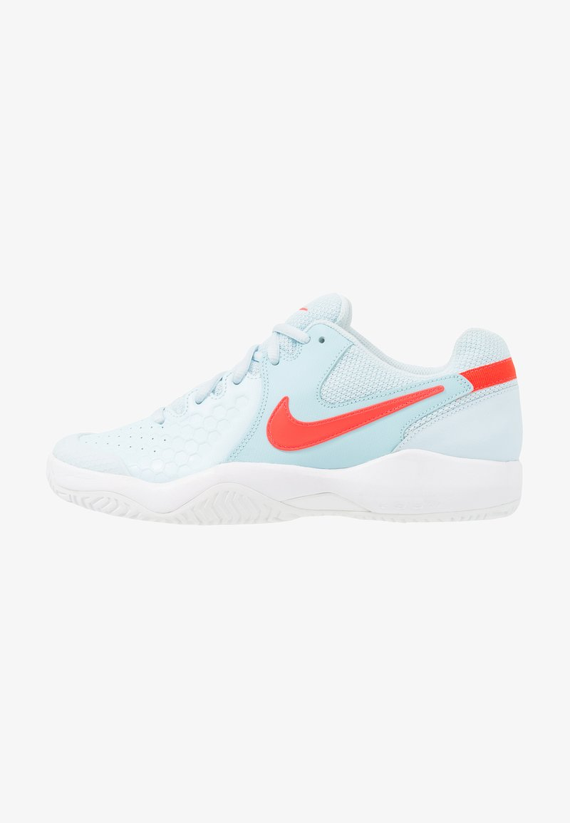 Nike Performance - ZOOM AIR RESISTANCE - Multicourt tennis shoes - topaz mist/bright crimson/still blue