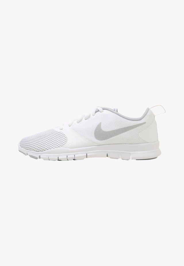 WMNS NIKE FLEX ESSENTIAL TR - Sports shoes - white/wolf grey/pure platinum