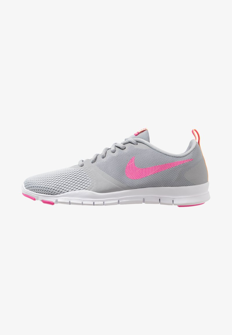 Nike Performance - FLEX ESSENTIAL TR - Sports shoes - wolf grey/laser fuchsia/pure platinum