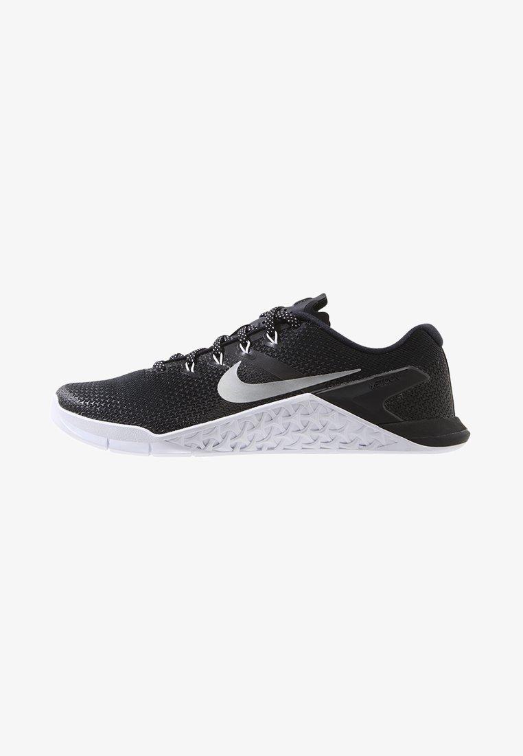 Nike Performance - METCON 4 - Sports shoes - black/metallic silver/white