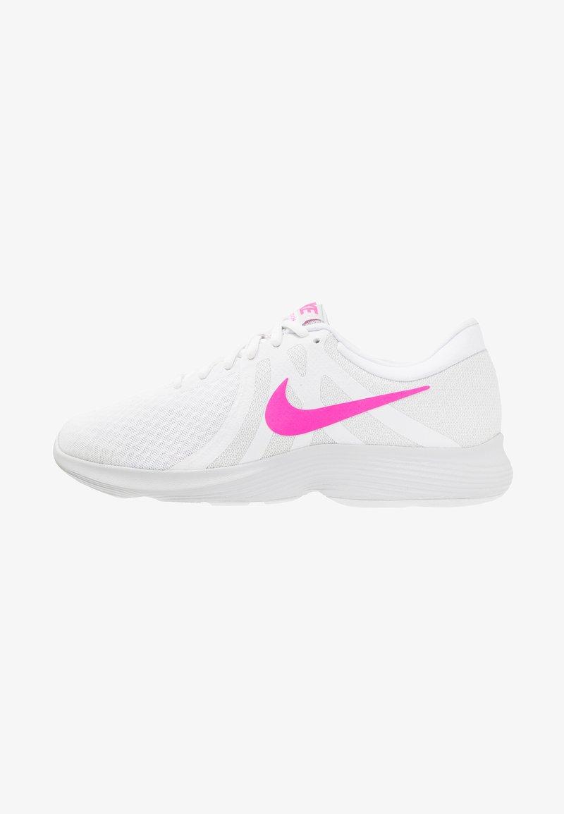 Nike Performance - REVOLUTION 4 - Juoksukenkä/neutraalit - white/laser fuchsia/pure platinum