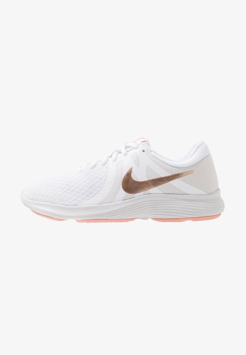 Nike Performance - REVOLUTION 4 - Neutrální běžecké boty - white/metallic red bronze/vast grey/pink quartz